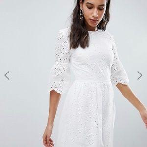ASOS Parisian white broderie dress - US 8
